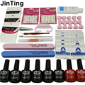 Nail Art Manicure Tools 6 Color 10ml soak off Gel nail base gel top coat polish with Remover Practice set File kit
