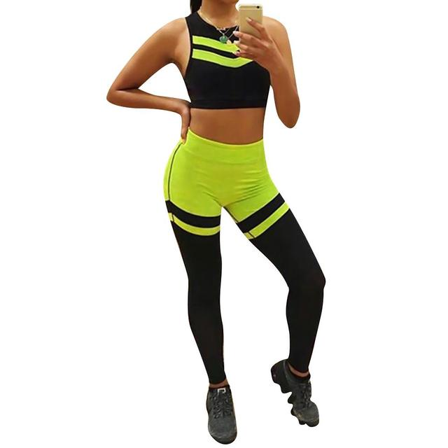 Yoga Fitness Gym Suit Top Yoga Pants Exercise Sportswear Set Moisture Perspiration Resistance Sports Running Suit