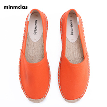 MInmclas New Fashion Embroidery Comfortable Ladies Womens Casual Espadrilles Shoes Breathable Flax Hemp Canvas for Girls