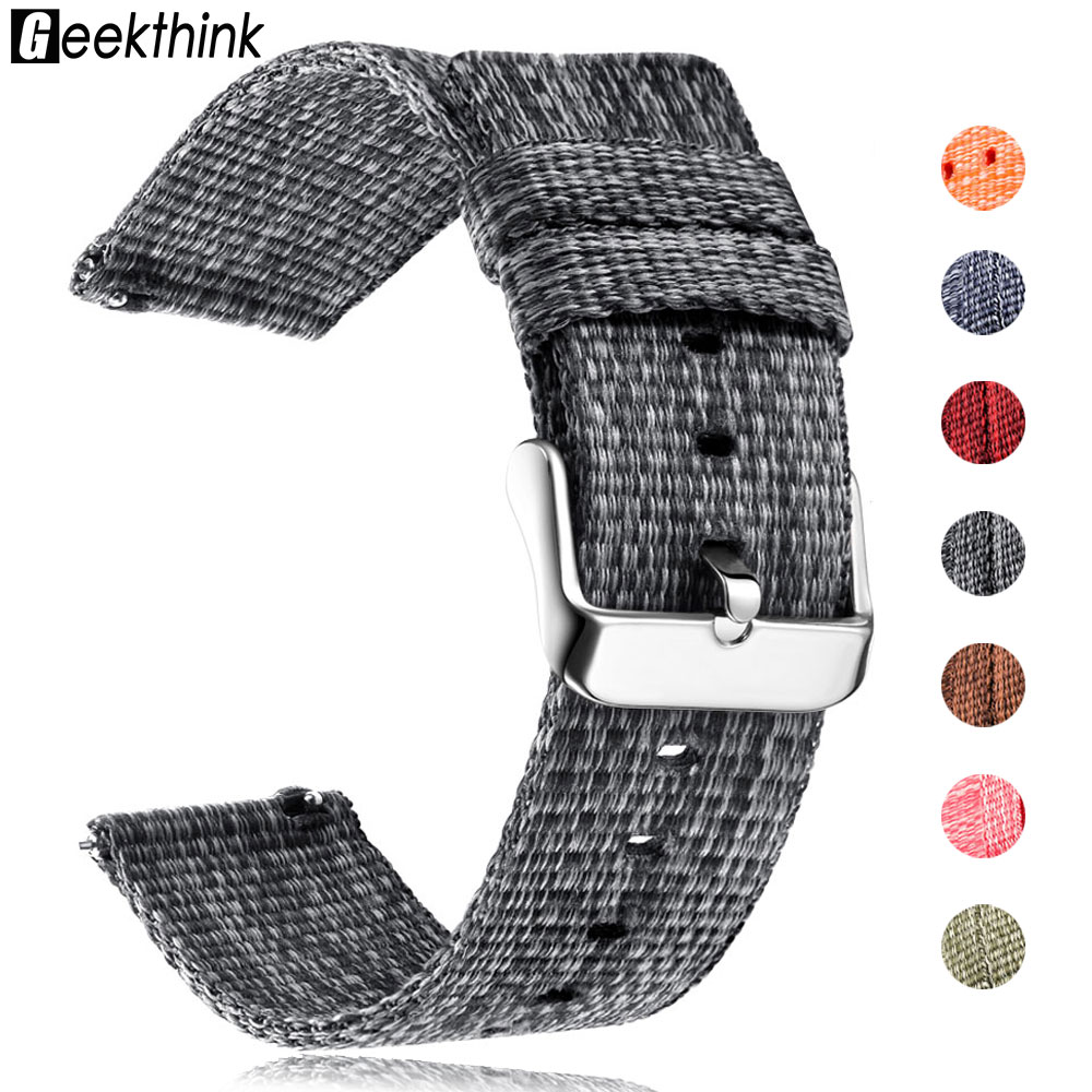 Nylon Watch Band For Samsung Galaxy 42 46 Active Watch Gear S3 Sport S2 Frontier Classic Samsung Wrist 20mm Sport Woven