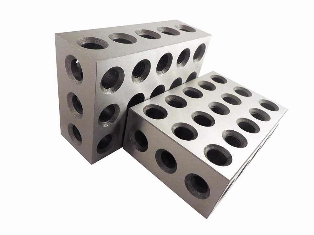 """Pairs of Ultra Precision 1-2-3 Blocks 0.0002/"""" 23 Holes Milling Machinist Steel"""