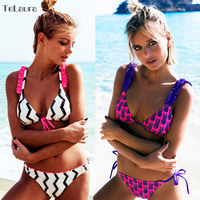 2017 New Sexy Bikinis Women Swimsuit Push Up Swimwear Beach Wear Printed Brazilian Bikini Set Bathing