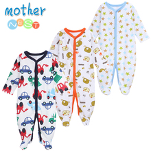 Mother Nest 3 PCS/LOT Baby Boy Clothes Comfortable Rompers Winter Thick Climbing Newborn 0-12 M Unisex