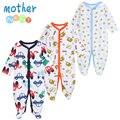 Mother nest 3 unids/lote ropa de niño bebé cómodo mamelucos del bebé de invierno gruesa ropa de escalada recién nacido 0-12 m ropa de bebé unisex