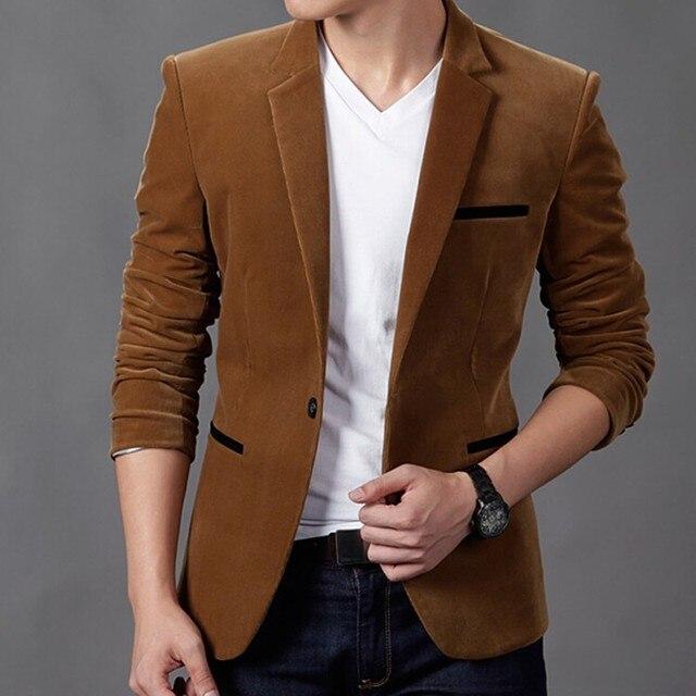 2017 Мужская Мода Бренд Блейзер Британский Стиль вскользь Уменьшают Подходящую пиджак мужской Пиджаки мужчины пальто Размер 4XL