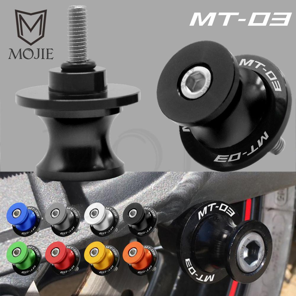 6MM Motorcycle Swingarm Spools Slider Stand Screws For YAMAHA MT-03 2005-2018