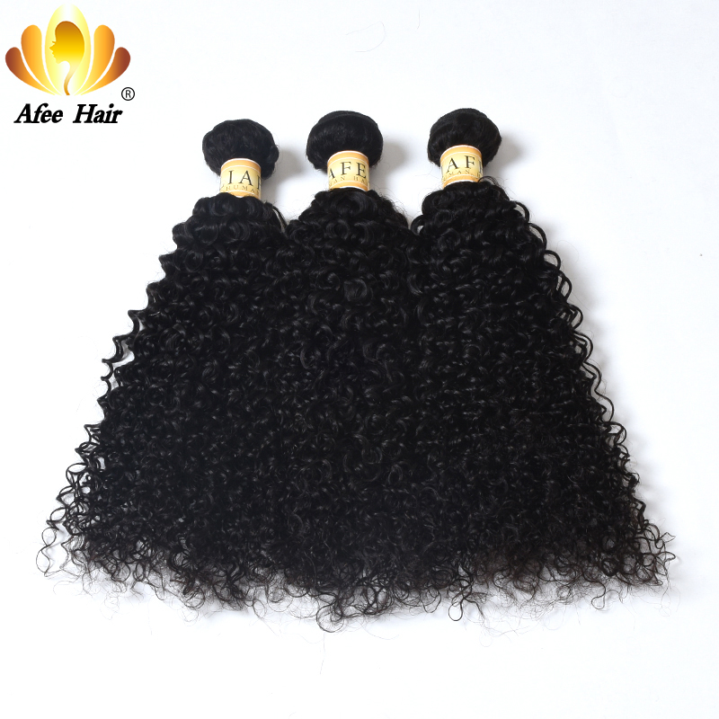 AliAfee Hair Peruvian Kinky Curly Hair Non Remy Hair Weave 8-28inch 100% Human Hair 3 Bundles Deal Kinky Curly Bundles