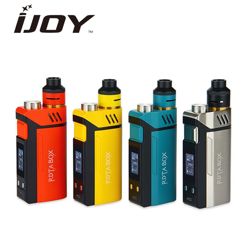 Original IJOY RDTA BOX Kit with 12.8ml Tank Capacity w/ IMC-3 Coil Deck Max 200W Output No 18650 Battery Box Mod E-cig Vape Kit new original 200w ijoy rdta box kit with 12 8ml capacity electronic cig kit ni ti ss temperature control with imc building deck