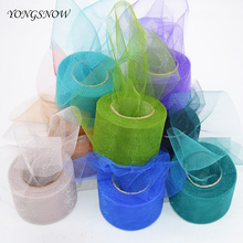 hot deal buy 22m shiny crystal tulle roll organza sheer gauze spool tutu skirt gift wedding party decoration baby shower event party supplies
