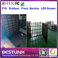 p10 outdoor led display screen front service cabinet rgb led billboard p10 led video wall proof water screen board