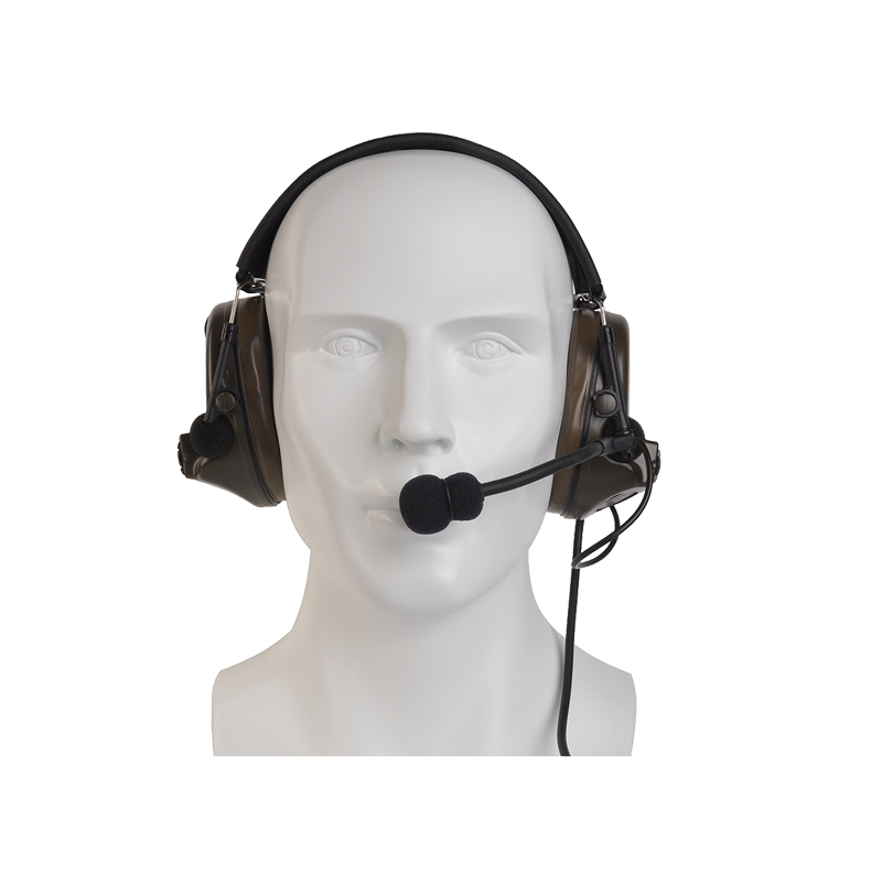 Z-Tac Tactical Headphones Peltor Comtac II No Noise Canceling Airsoft Communication Military Tactical Headset For Walkie-talkie-2