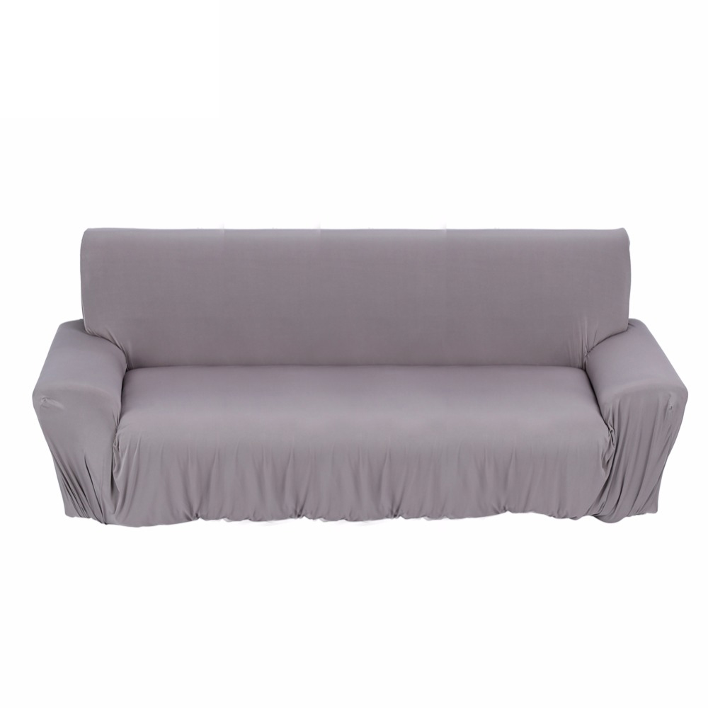 1 2 3 seat sofa cover new slipcover stretchable pure color polyester fiber sofa cushion washable. Black Bedroom Furniture Sets. Home Design Ideas