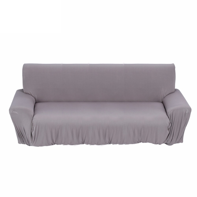 1/2/3 Seat Sofa Cover New Slipcover Stretchable Pure Color Polyester Fiber  Sofa
