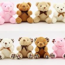 2 дизайна-маленький 10 см Брелок Плюшевый медведь игрушки, чучело кукла игрушка
