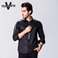 Mode! weißes Hemd Homme Casual Business Zipper Solide Langarm Importiert Kleidung Bequeme Herbst Stil Shirt 2XL