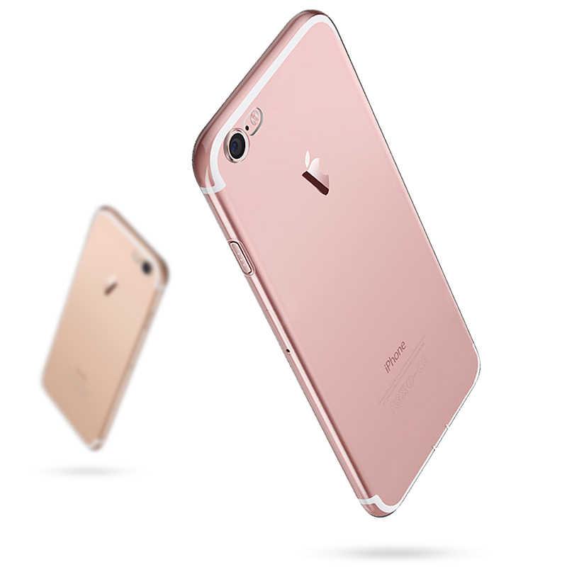 울트라 얇은 슬림 투명 소프트 TPU 전화 케이스 아이폰 7 8 플러스 카파 클리어 케이스 아이폰 Xs 11 프로 맥스 X XR 6s 6 5s 케이스