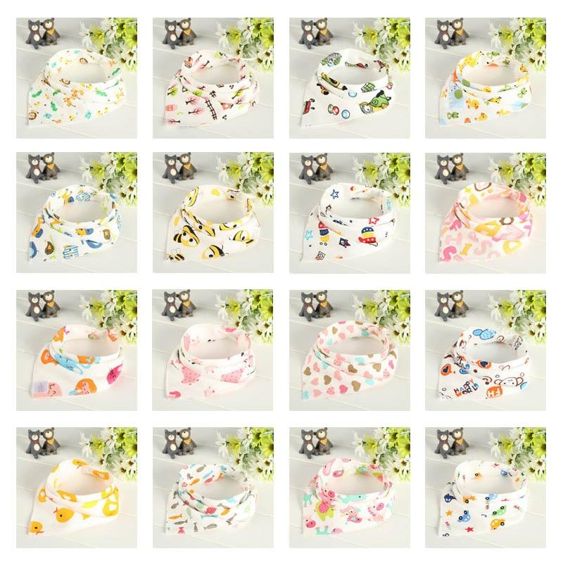6Pcs/Set Cotton Baby Bibs Double Layers Waterproof Cloth Scarf Boys Girls Burp Bib 88 NSV775