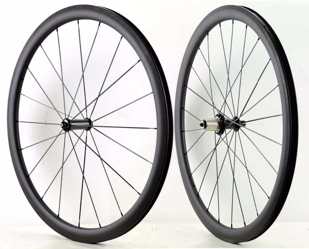 цена на 700C 38mm depth road carbon wheels 25mm width Tubular/ Clincher bicycle carbon wheelset with R36 ceramic hub sapim cx-ray spoke