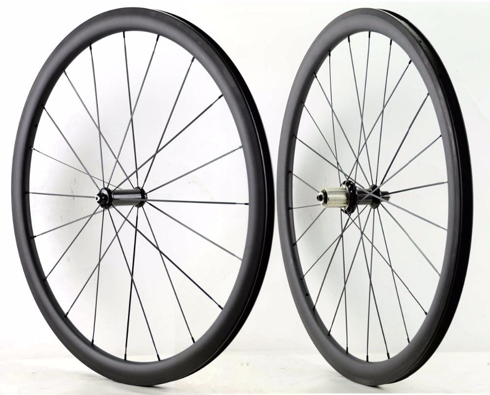 700C 38mm profondità ruote in carbonio strada 25mm di larghezza Tubolare/Graffatrice della bicicletta wheelset del carbonio con R36 hub ceramica sapim cx-ray raggi