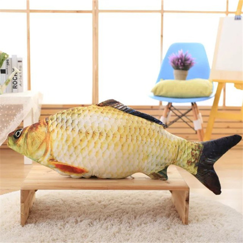 30/40/60cm Fish Plush Toys Simulation Fish Soft Crucian Carp Stuffed Animals Dolls Cartoon Golden Fish Pillow Gift for Kids Toy huge plush carp fish toy simulation carp lucky fish doll gift about 120cm