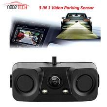 170 Degree 3 IN 1 Video Parking Sensor Car Reverse Backup Rear View font b Camera