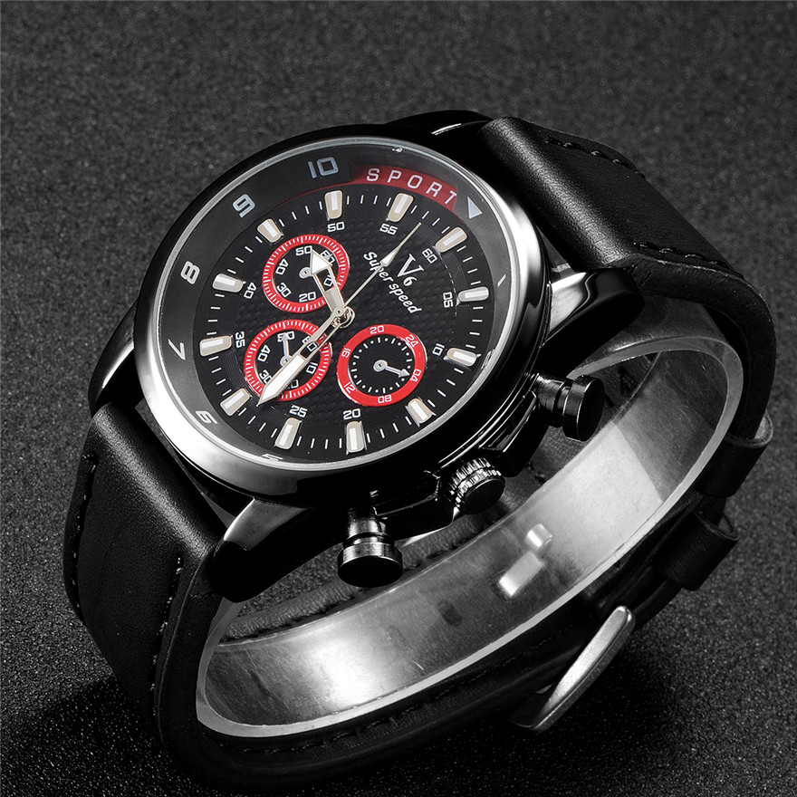 Luxury Brand Men's Watch Sport Leather Strap Quartz-Watch Big Dial Military Watches Men Wristwatch Reloj Hombre Male Sports relo men watches big oulm 9316b brand luxury design army japan movt quartz dz watch male sport montres de marque de luxe reloj hombre