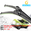 Brisas do carro de Borracha Macia Wiper Blade Bracketless Windshield Wiper Para Chevrolet Orlando LS & LT & LTZ 4-Door Sedan 2012-2014