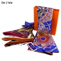 2017 Marca Designer de Lenços de Seda Pura Lenço Quadrado Mulheres Lenço Pashmina Xailes e Cachecóis Tippet Feminino Protetor Solar Pashminas
