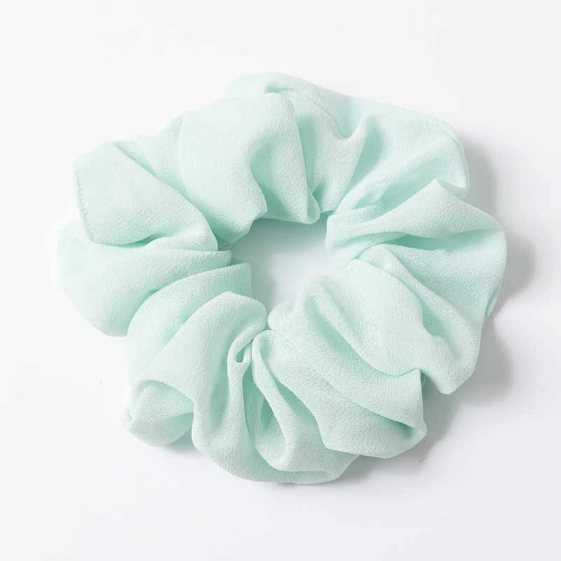 หญิงแหวนผมชีฟอง Scrunchies สาวซาตินผมผ้าไหมผมอุปกรณ์เสริมผมวงยืดหยุ่นผมเชือก Gum