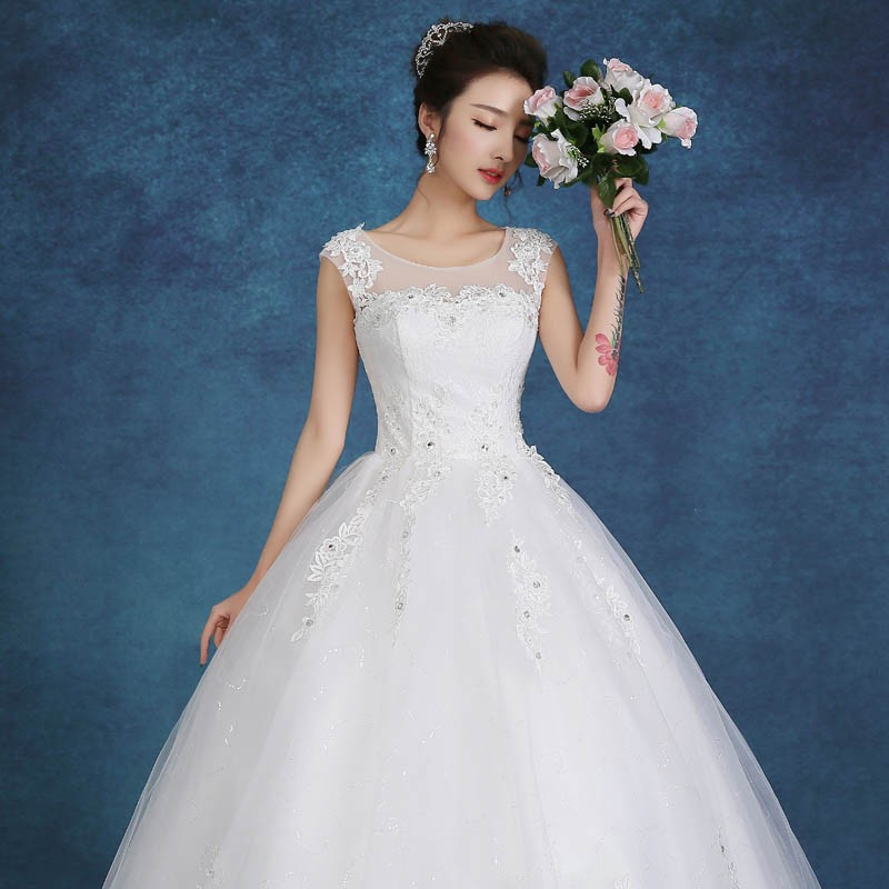 Free shipping New Fashion White And Red Princess Sweet Wedding Dress ...