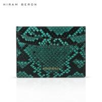 حيرام بيرون اسم مخصص شحن رجل محفظة حمل بطاقات بيثون جلدية فاخرة هدية الحقيقي أزياء والجلود دروبشيب