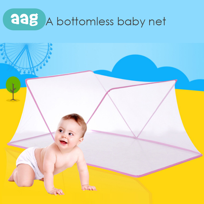 AAG Portable Baby Infants Mosquito Insect Netting Mesh Folding  Multi-function Big Space Child Summer Bed Crib Mosquito Tent 30