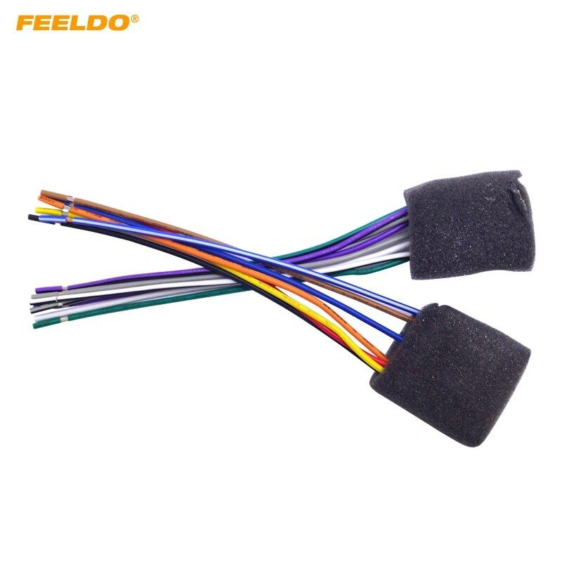 Feeldo 5pair Car Radio Audio Stereo 4 Speaker Wire Harness