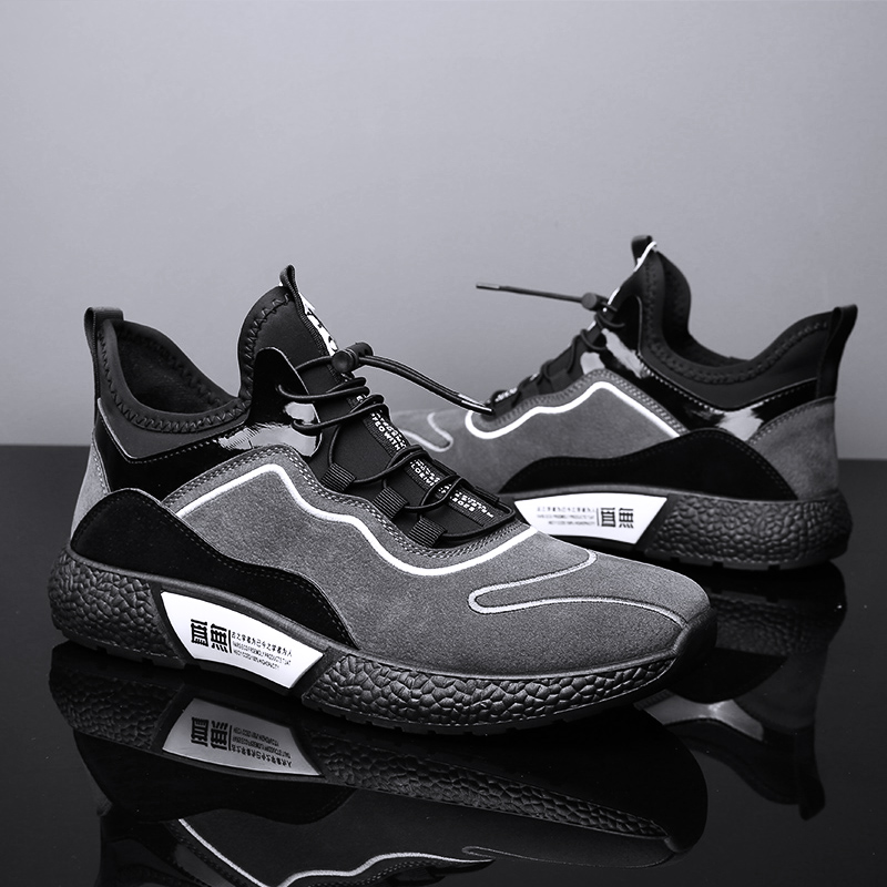 MUMUELI Gray Black Leather 2019 Designer Casual Breathable Shoes Men High Quality Fashion Luxury Ultra Boost Brand Sneakers L771 4