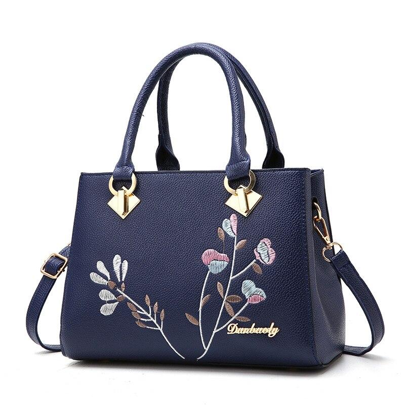 Messenger Bags Women Handbag Flower Women Shoulder Bags Women Pu Leather Tote Bag Ladies Bags S Totes Sac A Main S1213