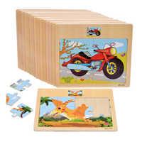 Holz Optional Jigsaw Puzzle spielzeug Holz Bord Kinder Cartoon Tier Verkehrs Kognitiven Frühen Bildung Lernen Puzzle Spielzeug