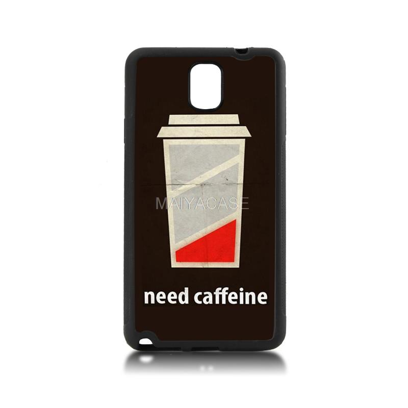 Hot Sale Fashion Luxury cover tpu soft black phone case low battery need caffeine For case GALAXY note3