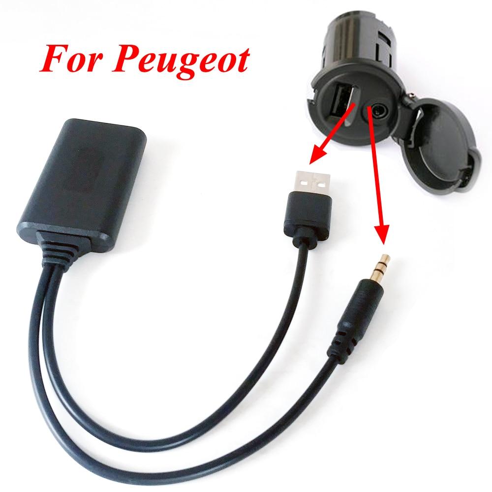 Adaptateur Câble 3.5mm Autoradio pour Citroen C2 C3 Peugeot 207 307 iPod iPhone