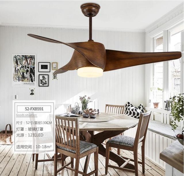 Bruin Vintage Ventilator Met Verlichting Afstandsbediening ...