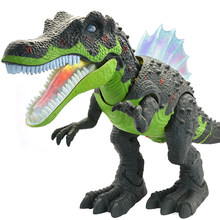Electric toy large size walking dinosaur robot With Light Sound Tyrannosaurus Rex kids toys(China)