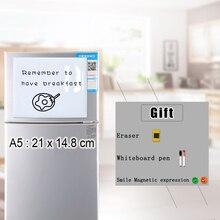 Yibay магнитная доска для записей Гибкая магнитная доска, сухая стираемая доска для рисования и записи доска для сообщений для холодильника