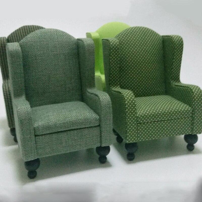 1pcs 1/6 Miniature Sofa For Dolls Dollhouse Furniture Toy Green Kawaii Mini Sofa Model Pretend Play Toys For Child Girls Gifts