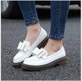 Женщина Сладкие Плоские Туфли Скольжения на Случайные Плоские Оксфорд Обувь Мода девушки Случайные Плоские Туфли Круглым Носком Мокасины Обувь Женская Размер 34-43