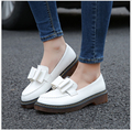 Woman Sweet Flat Shoes Slip-on Casual Flat Oxford Shoes Fashion Girls Casual Flat Shoes Round Toe Loafers Shoes Women Size 34-43