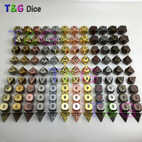 Metal Elven Dice Set of 10 for Role Playing Game TRPG Games For Dungeons Dragons Dice