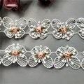 10 шт. стразы бабочка Бант Цветок фотоотделка лента Ткань Вышивка Шитье свадебное украшение