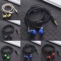 MP3 MP4 Subwoofer Fiação Corda Trançada Corda De Pano De Fio Fone de Ouvido Fone de Ouvido Earplug Ruído Isolando Fone de Ouvido Handfree