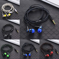 MP3 MP4 Wiring Subwoofer Headset Ear Braided Rope Wire Cloth Rope Earplug Noise Isolating Earphone  Handfree