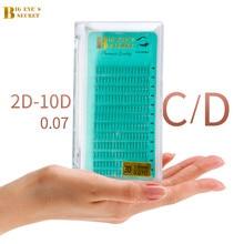 BES Middle Tape Short Stem Volume Lashes Premade Fans 2D-10D Mink Eyelashes Extension Supplies Faux