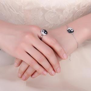 Image 4 - JewelryPalace Taiji Yin Yang Genuino Nero Spinello Anello In Argento Sterling 925 Anelli per Le Donne Anello di Dichiarazione di Gioielli In Argento 925